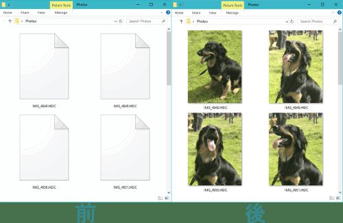 CopyTrans HEIC for Windowsを使って、HEIC形式の写真をパソコンに表示