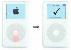 iPodをディスクモードに設定