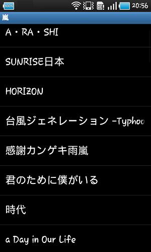 Androidの転送された音楽