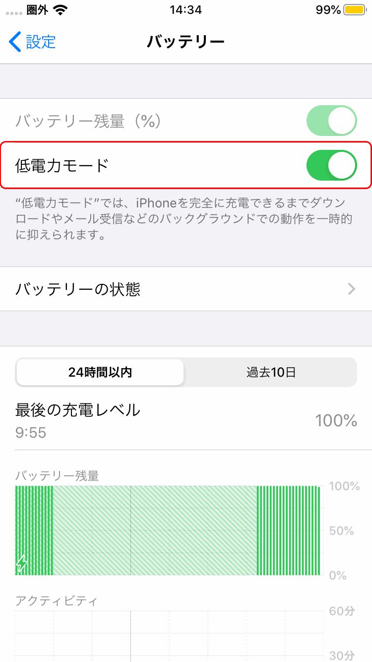 低電力モード