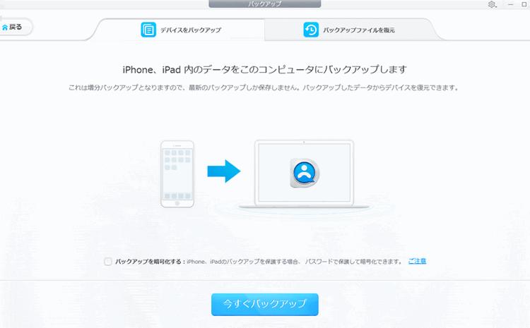 Dearmobを使って、iPhoneのデータをバックアップ
