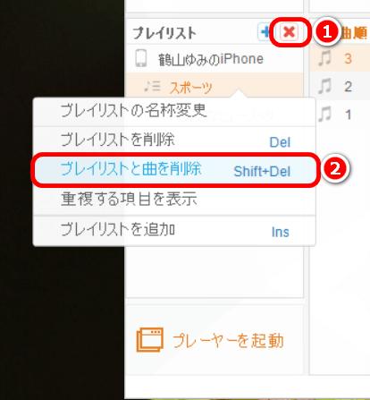 CopyTrans ManagerでiPhone・iPodのプレイリストを削除する