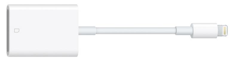 Apple純正のLightning – SDカードカメラリーダー