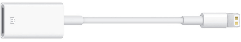 Apple純正のLightning – USBカメラアダプタ